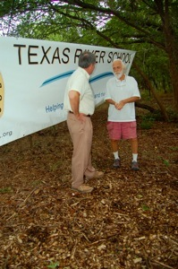 TRS Executive Director and Founder Joe Kendall with award namesake Mr. John Covert Watson